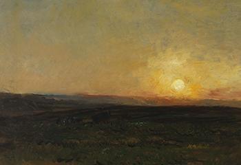 Charles Francois Daubigny, Zonsondergang (1876-1877). Collectie Museum Gouda. Beeld: Tom Haartsen.