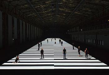 Ryoji Ikeda, test pattern [100m version], audiovisual installation (2013).