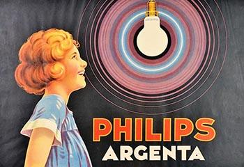 """Poster van Philips, """"Philips Argenta"""". Beeld: Nederlands Steendrukmuseum"""