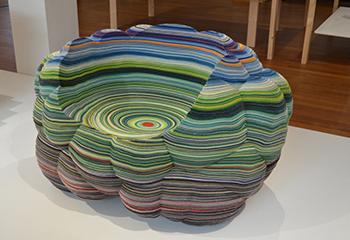 """Richard Hutten, """"Layers Cloud Chair"""", 2013. Gemeentemuseum Den Haag. Beeld: Puck Gerkema."""