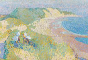 """Jan Toorop, """"Zee en duin bij Zoutelande"""" (1907). Beeld: Gemeentemuseum Den Haag"""