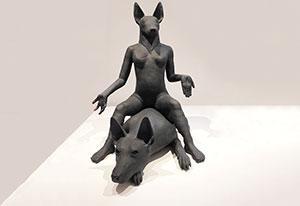Camile Smeets, 'Poortwachter', keramiek, 2009.