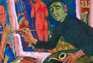 Johan Dijkstra, 'Jan Wiegers' (1927), was/olieverf op doek.