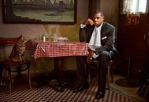 """Martin Schoeller, """"Jay-Z with Cat; New York, NY"""" (2007)"""