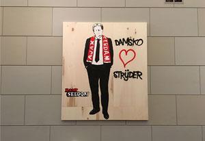 Damsko strijder! (paneel), Kamp Seedorf, straatkunstenaarscollectief (2017), collectie Amsterdam Museum.