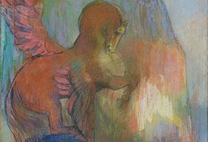 Odilon Redon, 'Pegasus' (1895-1900), pastel op papier. Beeld: Kröller-Muller Museum.