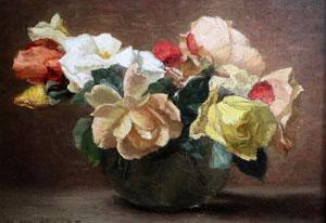 Beeld: Hendrik Heyligers, 'Rozen in pot'.