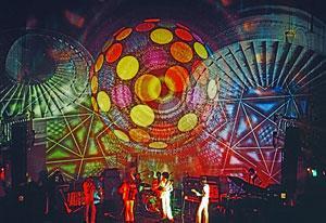 Adri Hazevoet, Lichtshow in Paradiso, circa 1970. Beeld: Adri Hazevoet