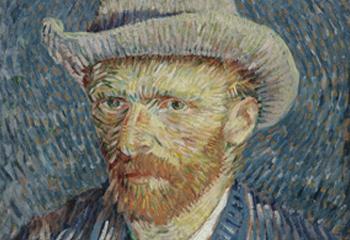 Zelfportret met grijze vilthoed Vincent van Gogh, september-oktober 1887
