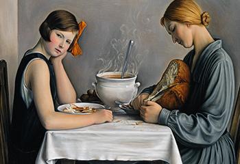 Credit afbeelding: François Barraud, La tailleuse de soupe, 1933, particuliere collectie Zwitserland.