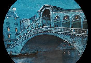 Beeld: Dickenstheater, Glasplaten Venetië