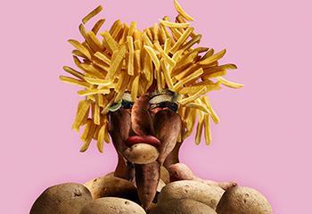 Natuurmuseum Fryslân, 'Potatoes Go Wild' tentoonstellingsbeeld. Beeld: Natuurmuseum Fryslân