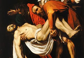 Caravaggio, 'De graflegging van Christus' (1602-1603). Beeld: Vaticaan.