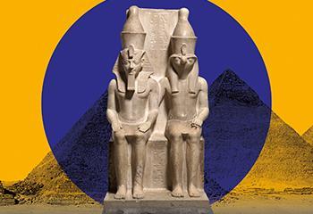 Ontwerp: Studio Dumbar, Rotterdam. Tentoonstelling 'Goden van Egypte'. Beeld: Rijksmuseum van Oudheden.
