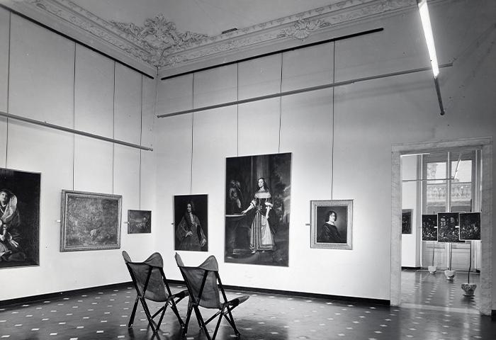 Franco Albini en Franca Helg, Palazzo Bianco, Genua, 1949-51. Foto A. Villani & Figli. Fondazione Franco Albini.