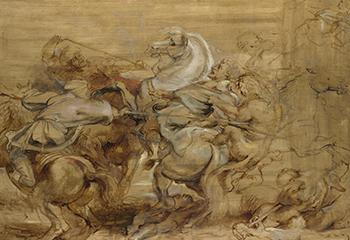 Peter Paul Rubens, 'The Lion Hunt' (c. 1615), olieverf op paneel. Beeld: The National Gallery, London