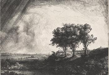 Rembrandt, De drie bomen, 1643, Museum Het Rembrandthuis.