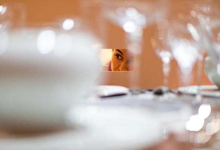 De grote kijkdoos in de ruimte 'Aan tafel', foto: Willeke Machiels