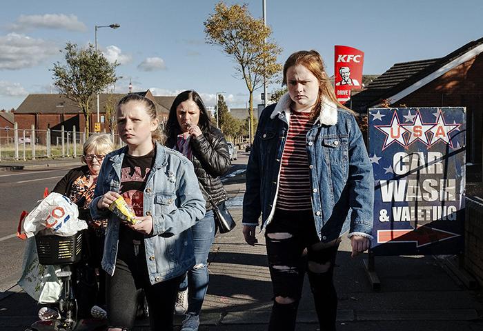 Shankill Road District, Belfast, Noord Ierland, 2018