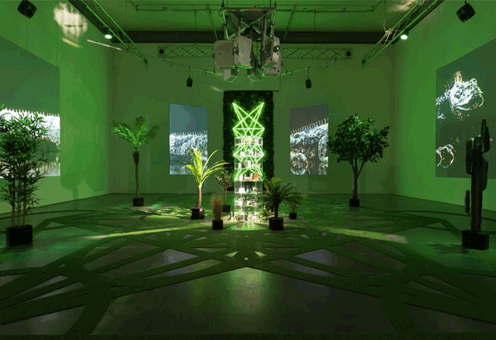 Zach Blass, The Doors, 2019, installation view, Edith-Russ-Haus für Medienkunst, Oldenburg, Germany. Courtesy of the Artist and Edith-Russ-Haus für Medienkunst.
