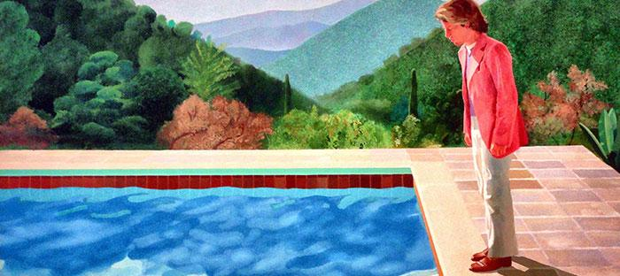 Portret van een kunstenaar (zwembad met twee figuren), Hockney, 1971