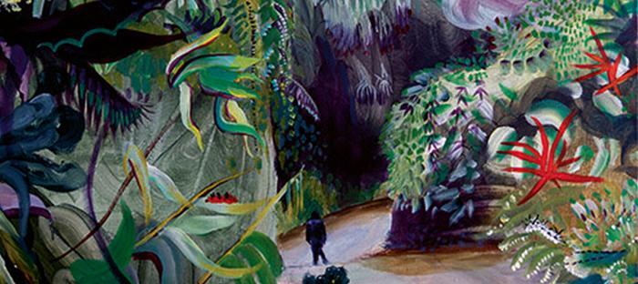 Beeld: Sophie Steengracht, Cloud forest, 120 x 100 cm, olieverf op doek, 2018